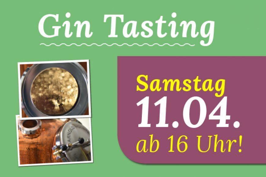 Gin Tasting am 11.04.!